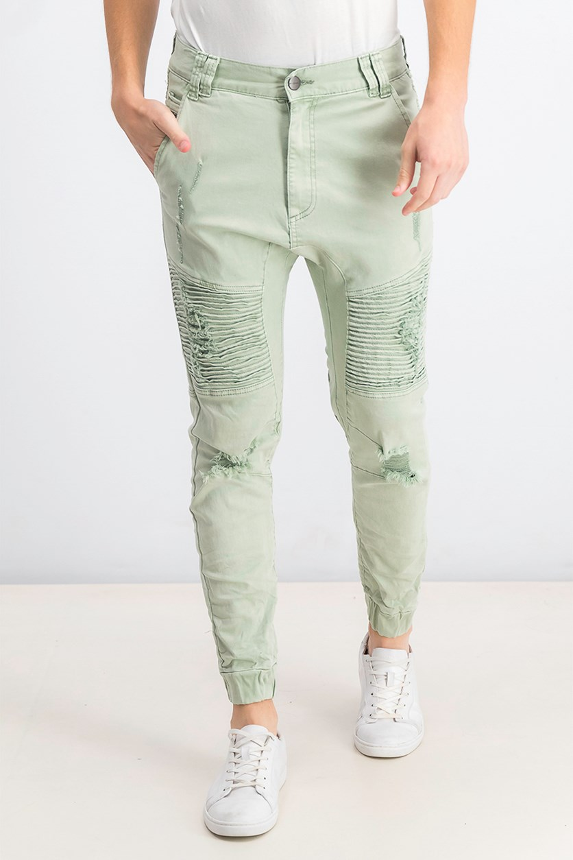 Men's Signature Destroyer Drop Crotch Jogger, Desert Sage