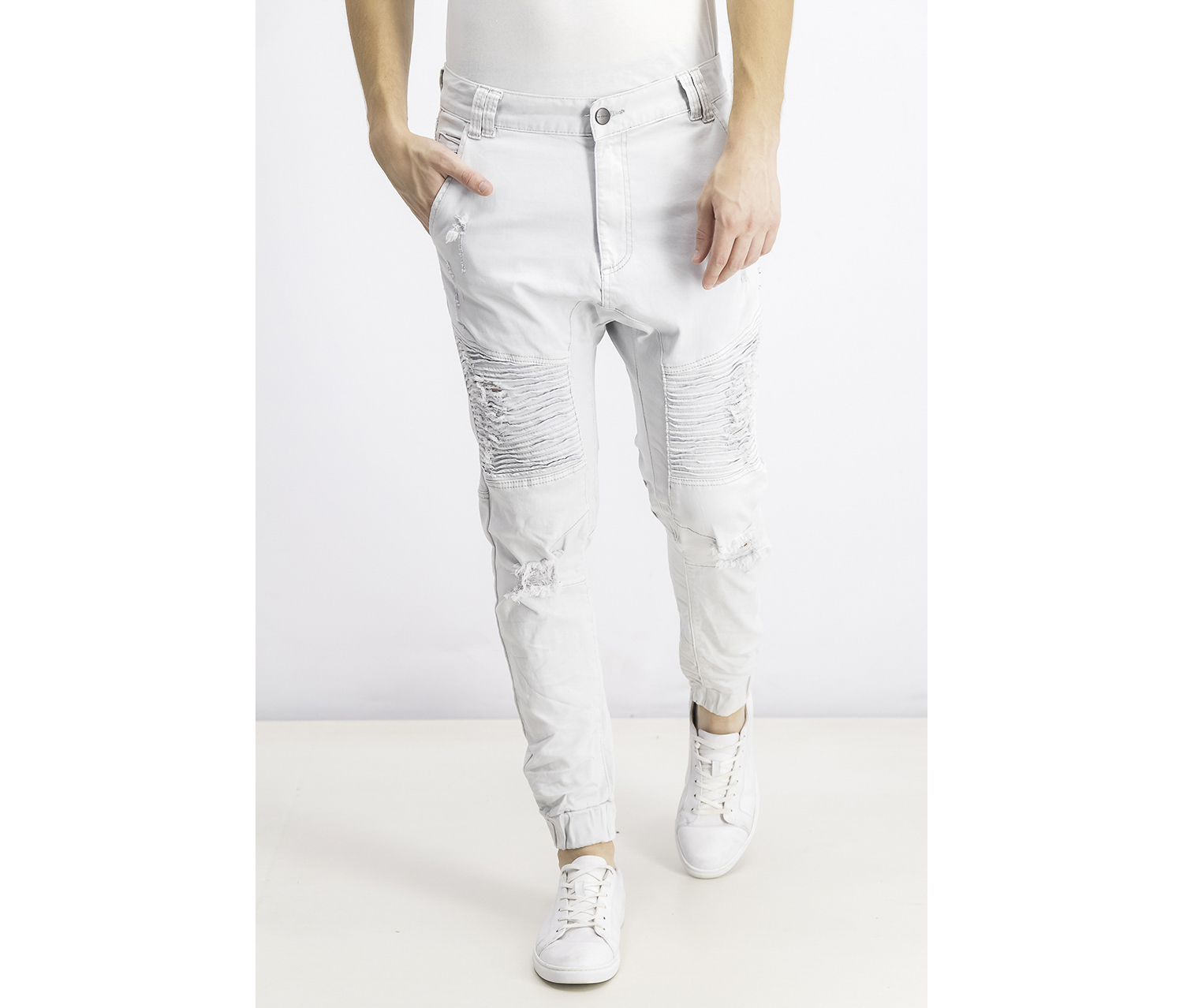 Men's Signature Destroyer Drop Crotch Jeans, Silver Star