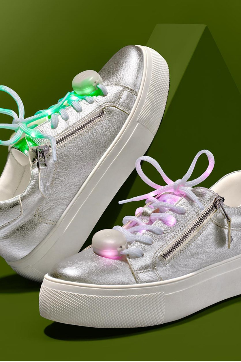LED Shoe Laces, Red/Yellow/Green/Blue/White/Purple