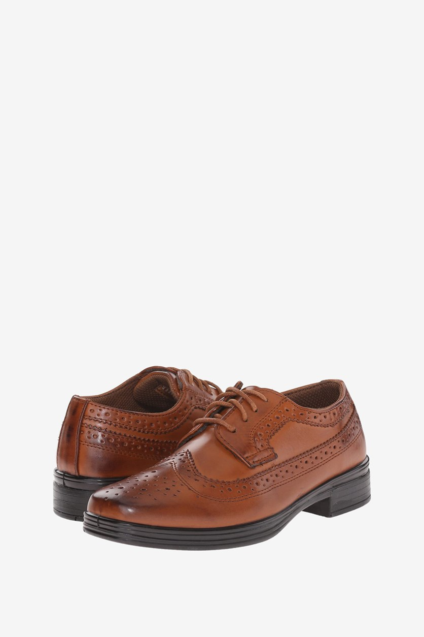 Kid's Boys Ace Comfort Oxford Shoes, Brown