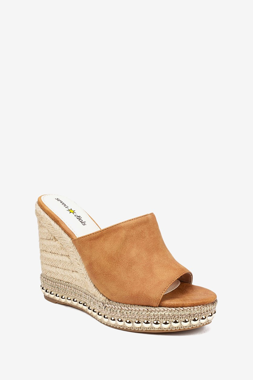 Women's Shania Espadrille Wedge Sandals, Whiskey/Brown