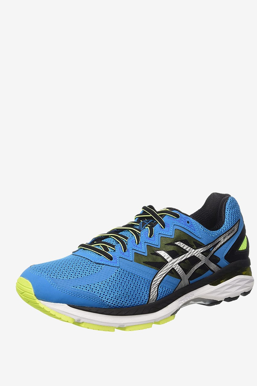 Men's Running Trainers Shoes, Blue Jewel/Black/Safety Yellow
