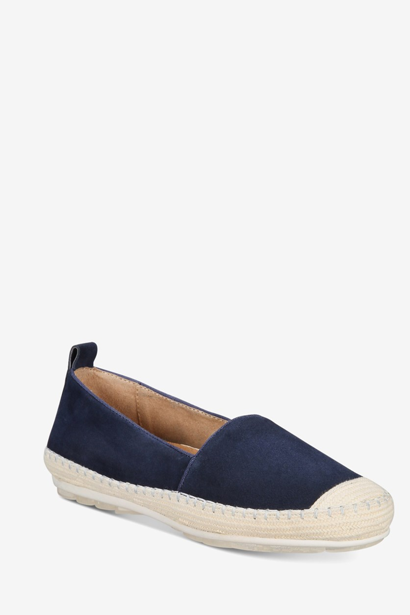 Womens Blink Closed Toe Waterproof Espadrilles, Navy Suede