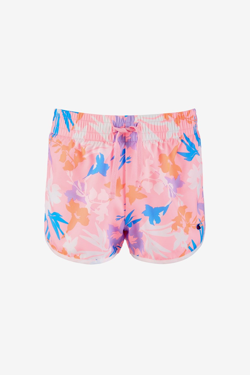 Toddler Girls Floral-Print Shorts, Pink Combo
