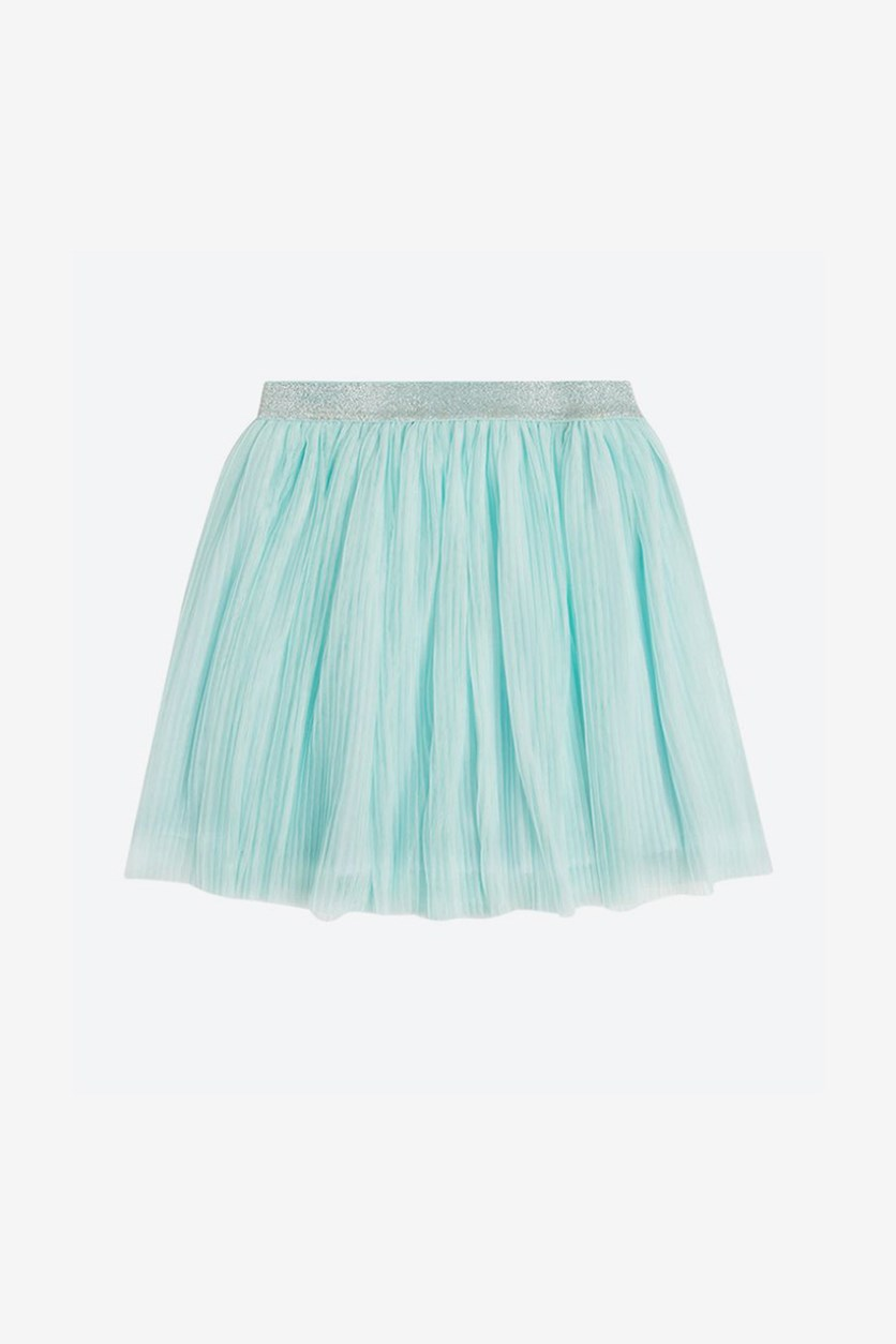 Big Girls Lace Glitter Waist Skirt, Light Blue