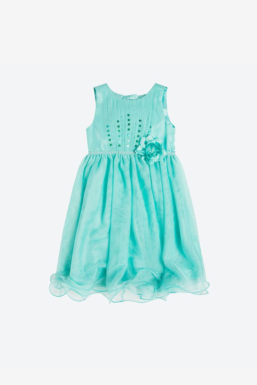 Girl's Tulle Frills Dress, Jade