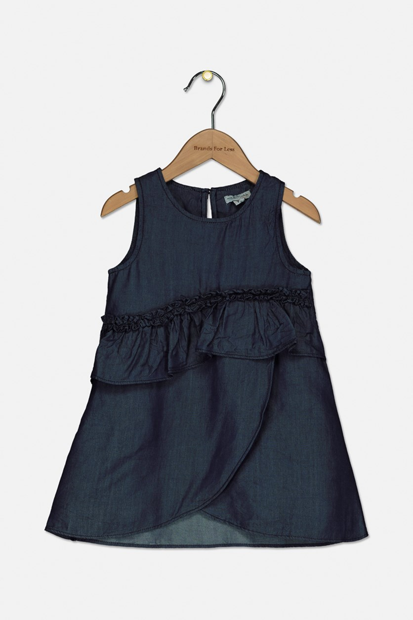 Toddler Girl's Sleeveless Dress, Navy