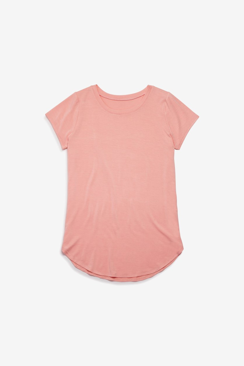 Kids Girls' Jersey Knit Tee, Blush