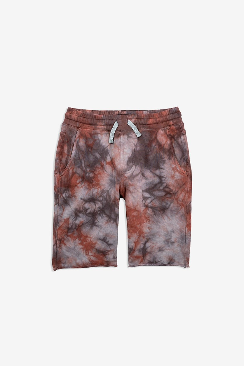 Toddlers Boys' Tie-Dyed Shorts, Oil Burn
