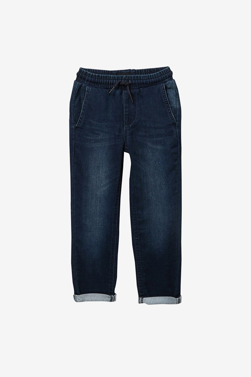 Boys French Terry Joggers Jeans, Iron Wash