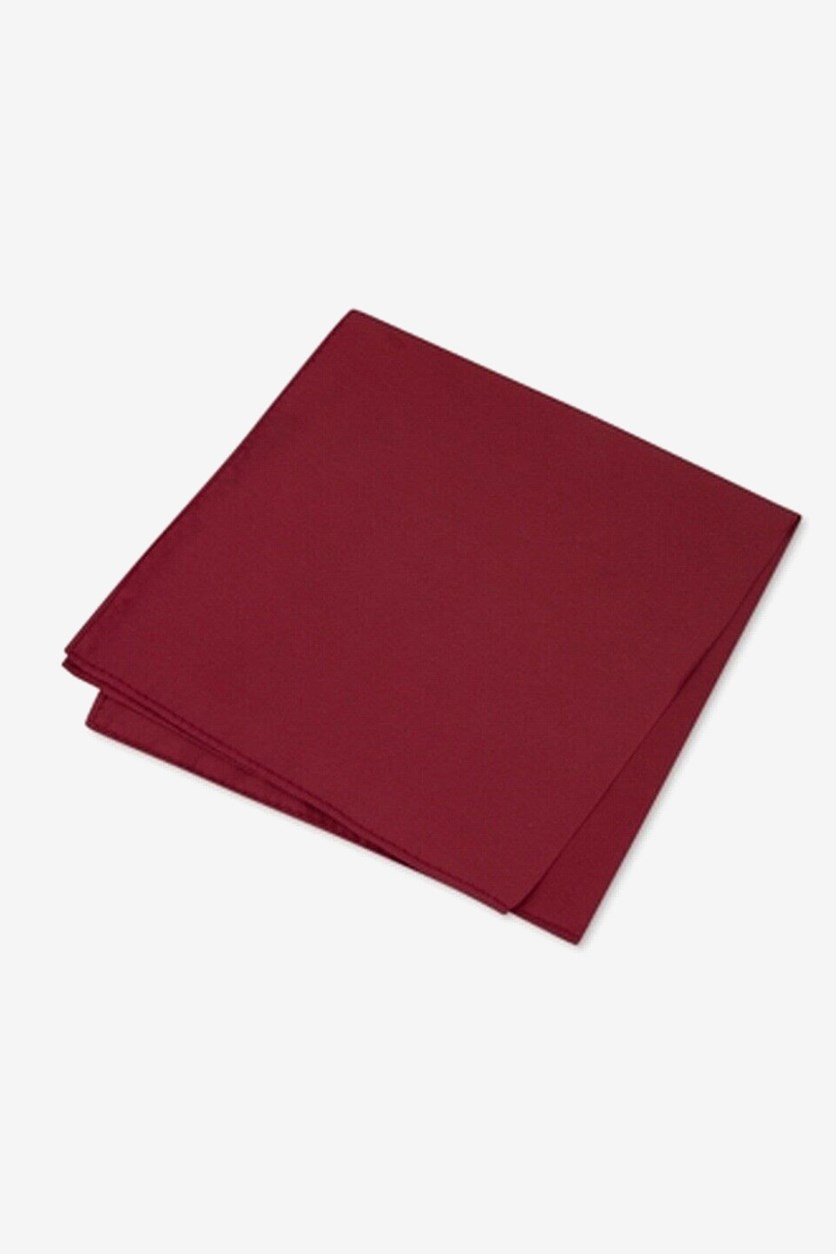 Men's Simple Solid Pocket Square, Fuchsia