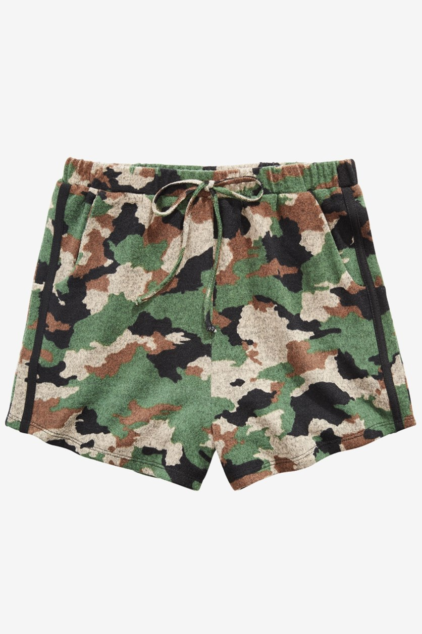Big Girls Camo-Print Shorts, Geen Combo