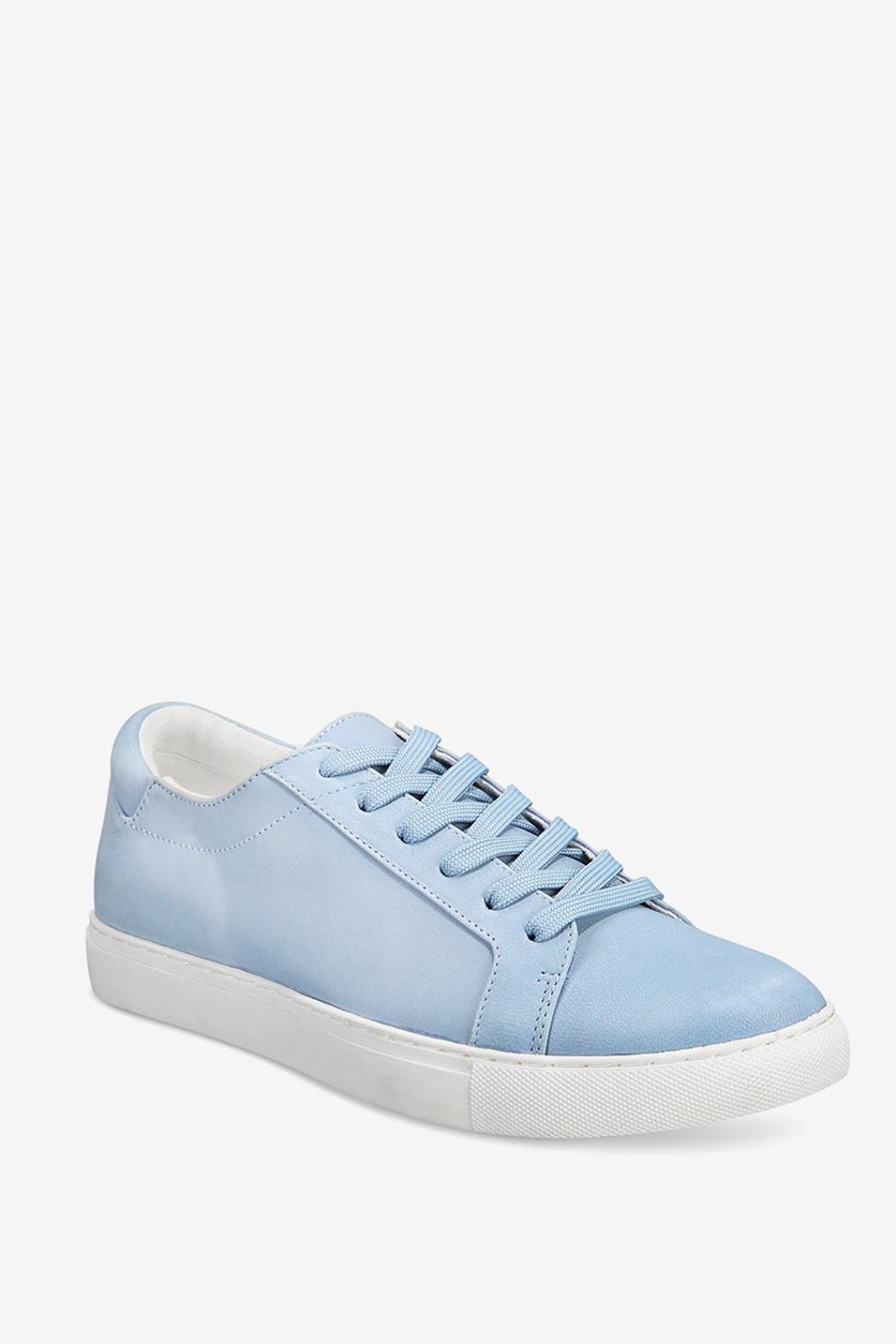 Womens Kam Fabric Low Top Lace up Fashion Sneakers, Blue