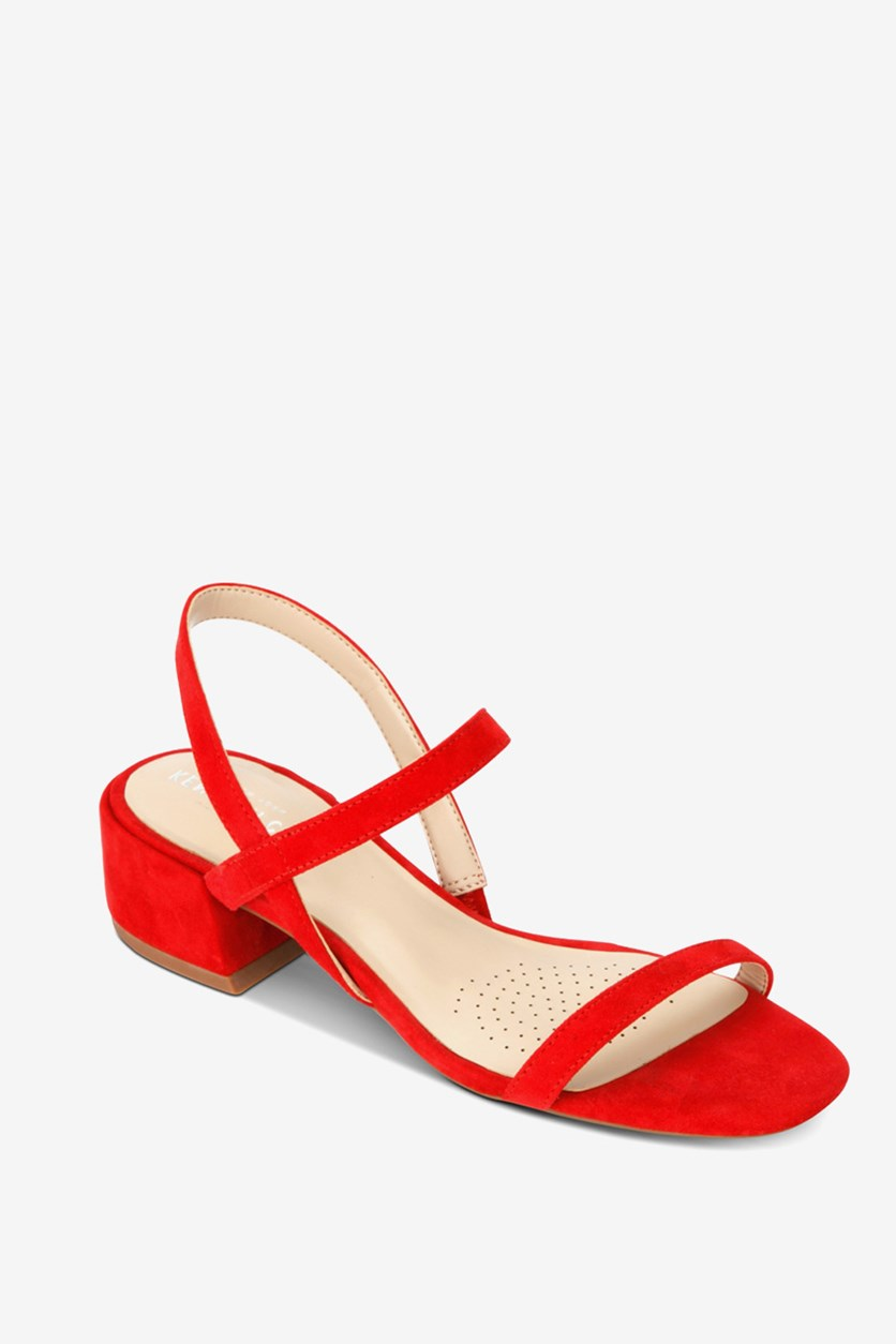 Women's Maisie Slingback Block-Heel Sandals, Red