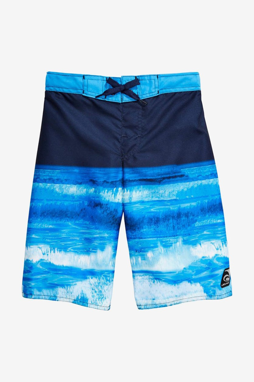 Big Boys Ocean-Print Swim Shorts, Blue