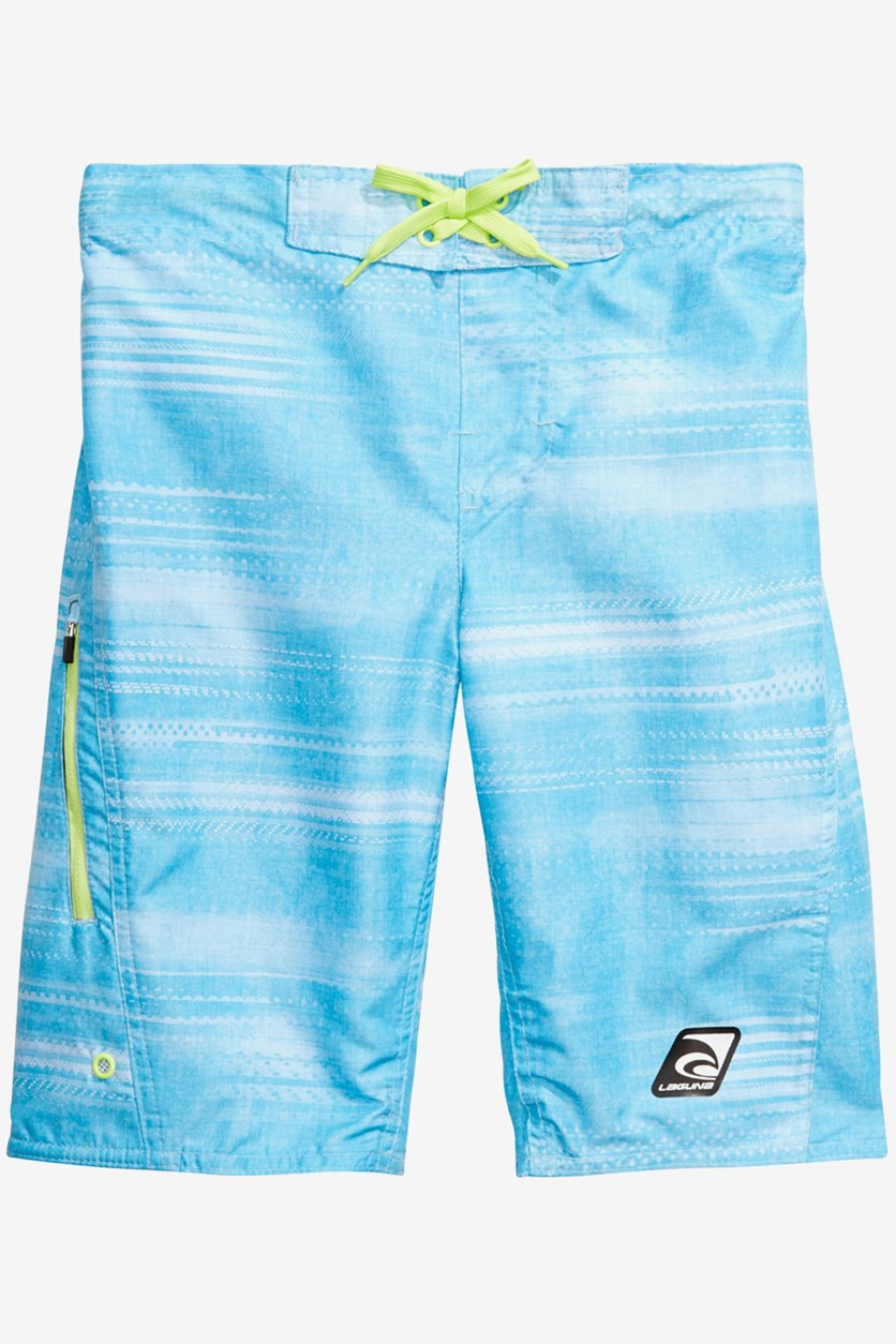 Big Boys Speed Zone Swim Shorts, Blue Atoll