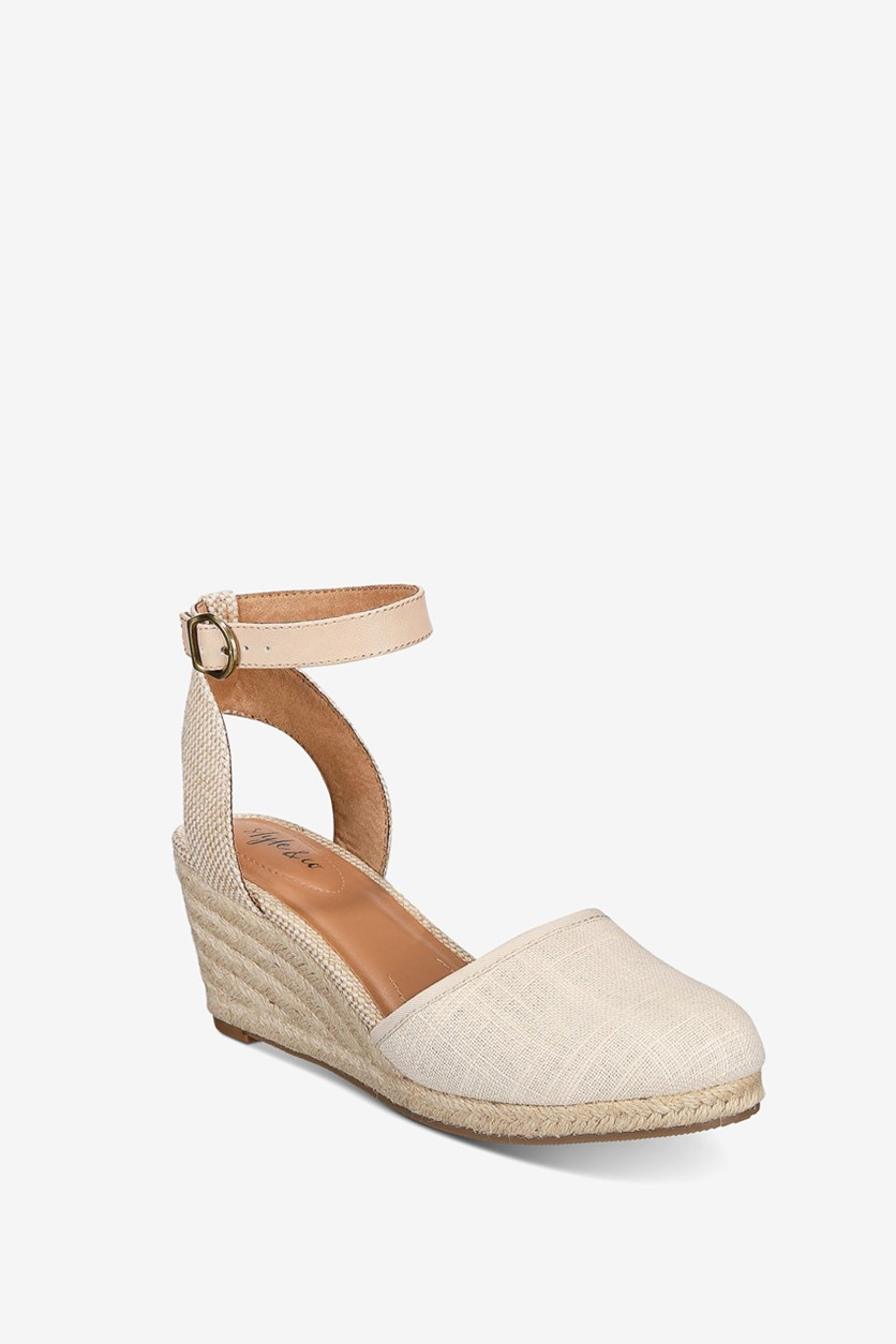 Womens Mailena Wedge Pumps, Canvas