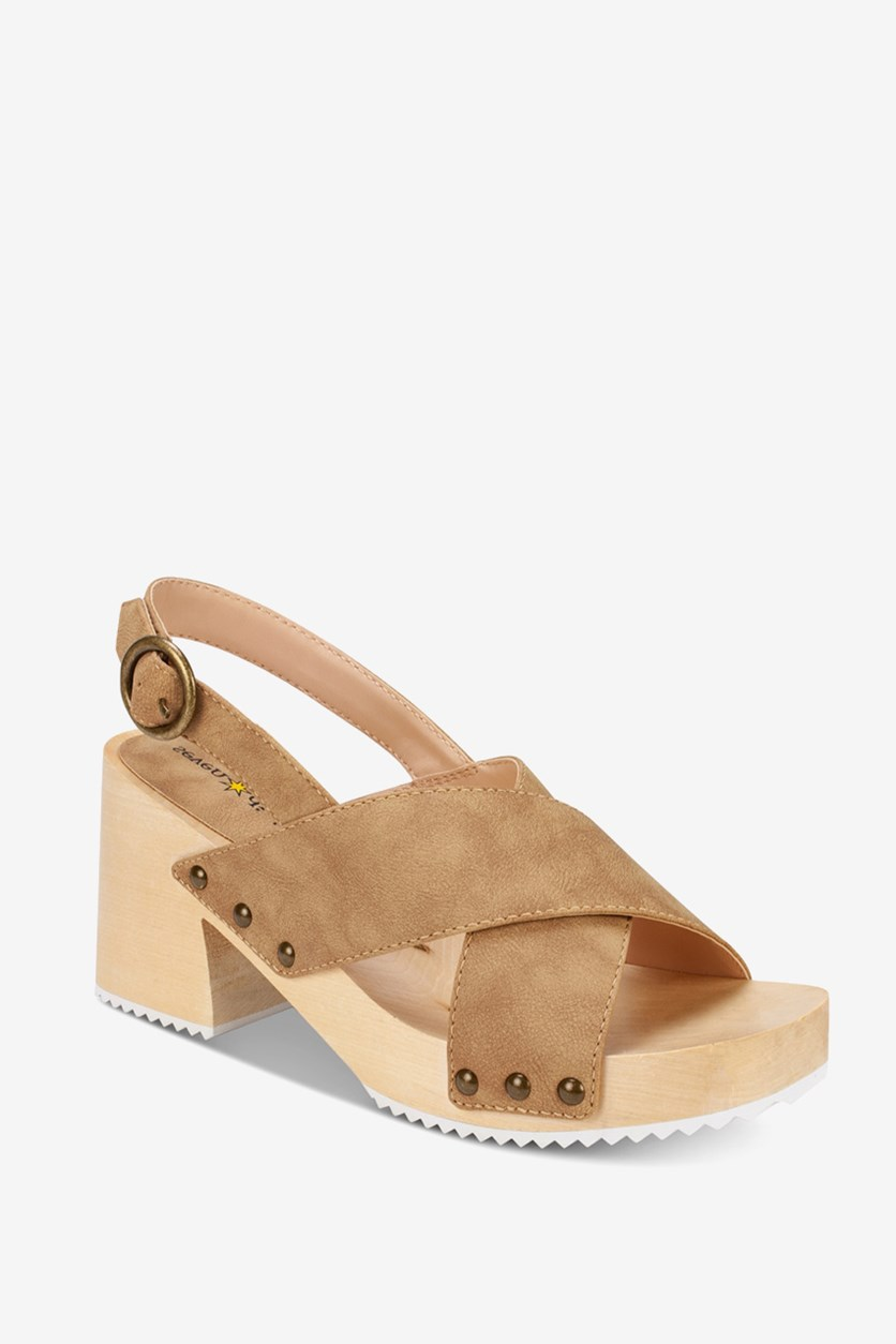 Women's Marina Block-Heel Sandals, Light Brown