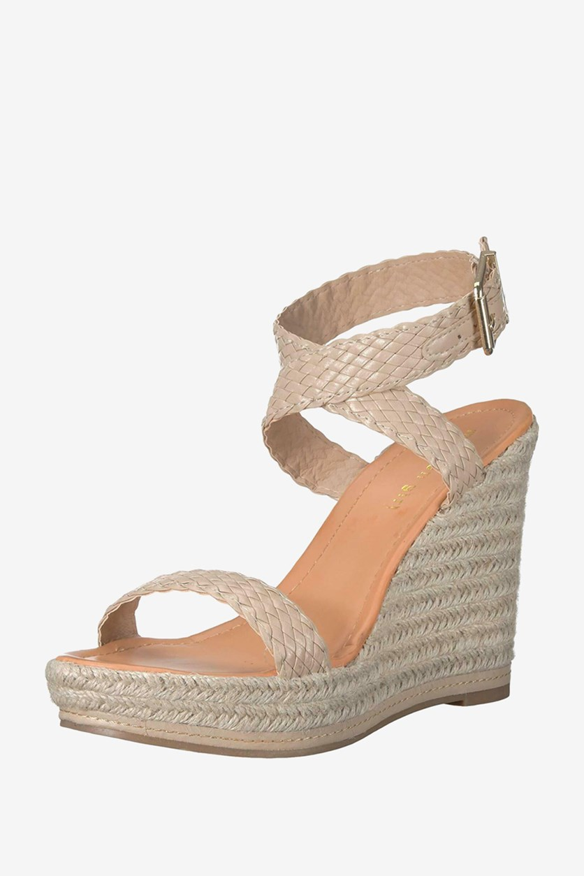 Women's Narla Woven Platform Wedge, Natural Paris