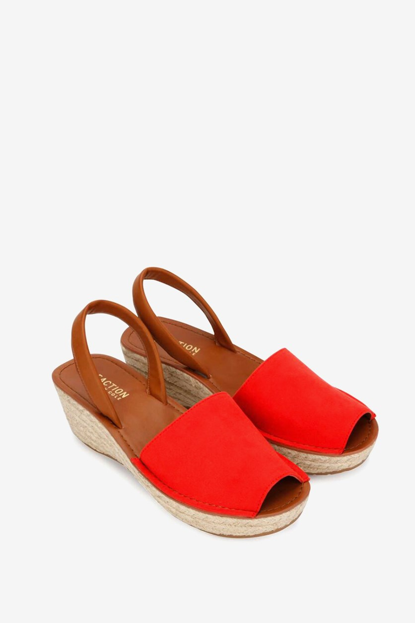 Women's Slingback Sandals, Red