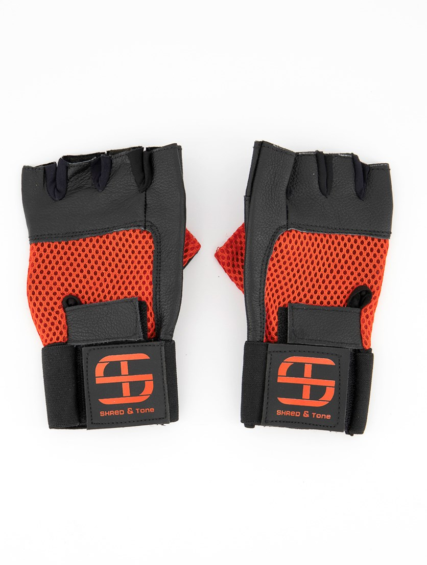 Men's Fitness Gloves, Red/Black