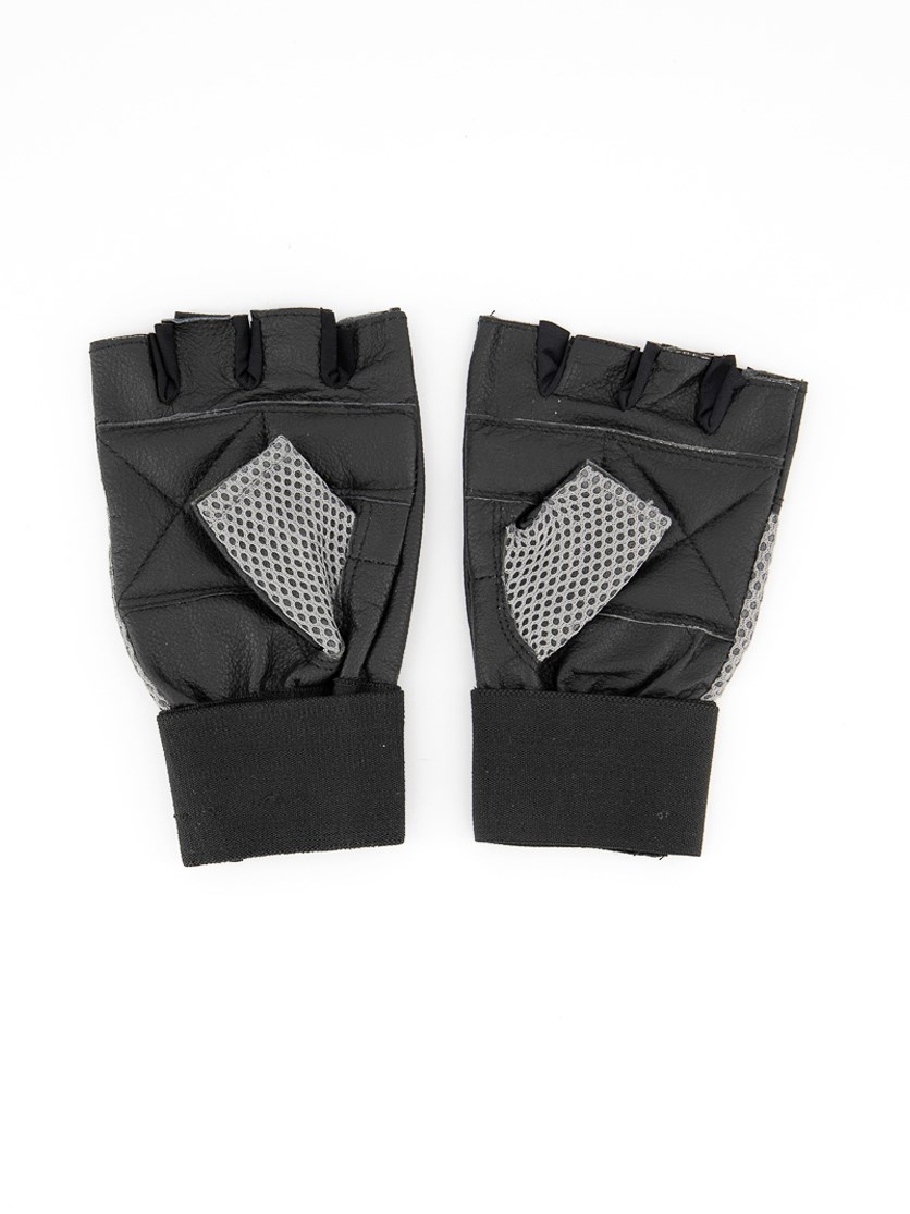 Men's Fitness Gloves, Grey/Black