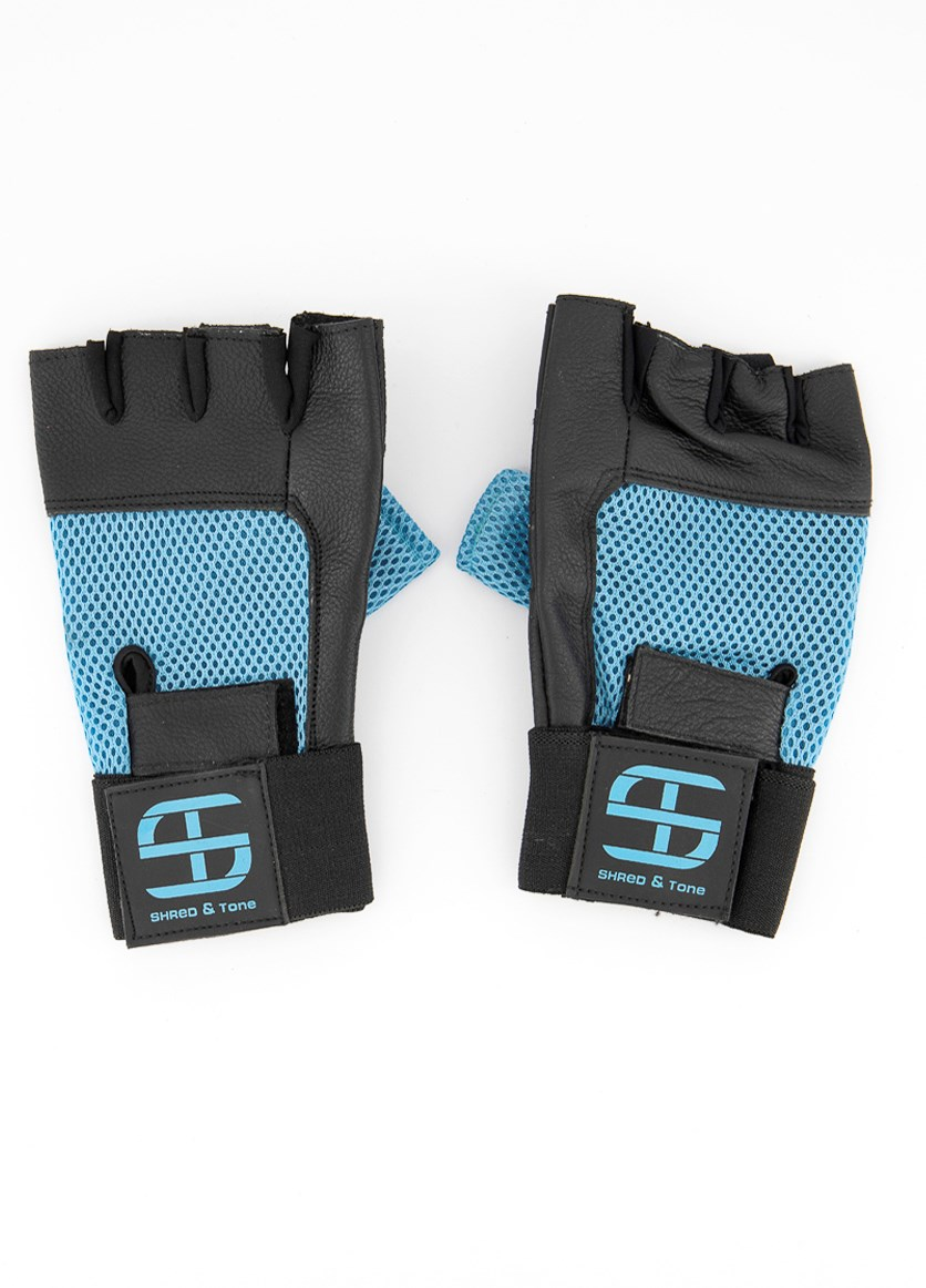 Men's Fitness Gloves, Blue/Black