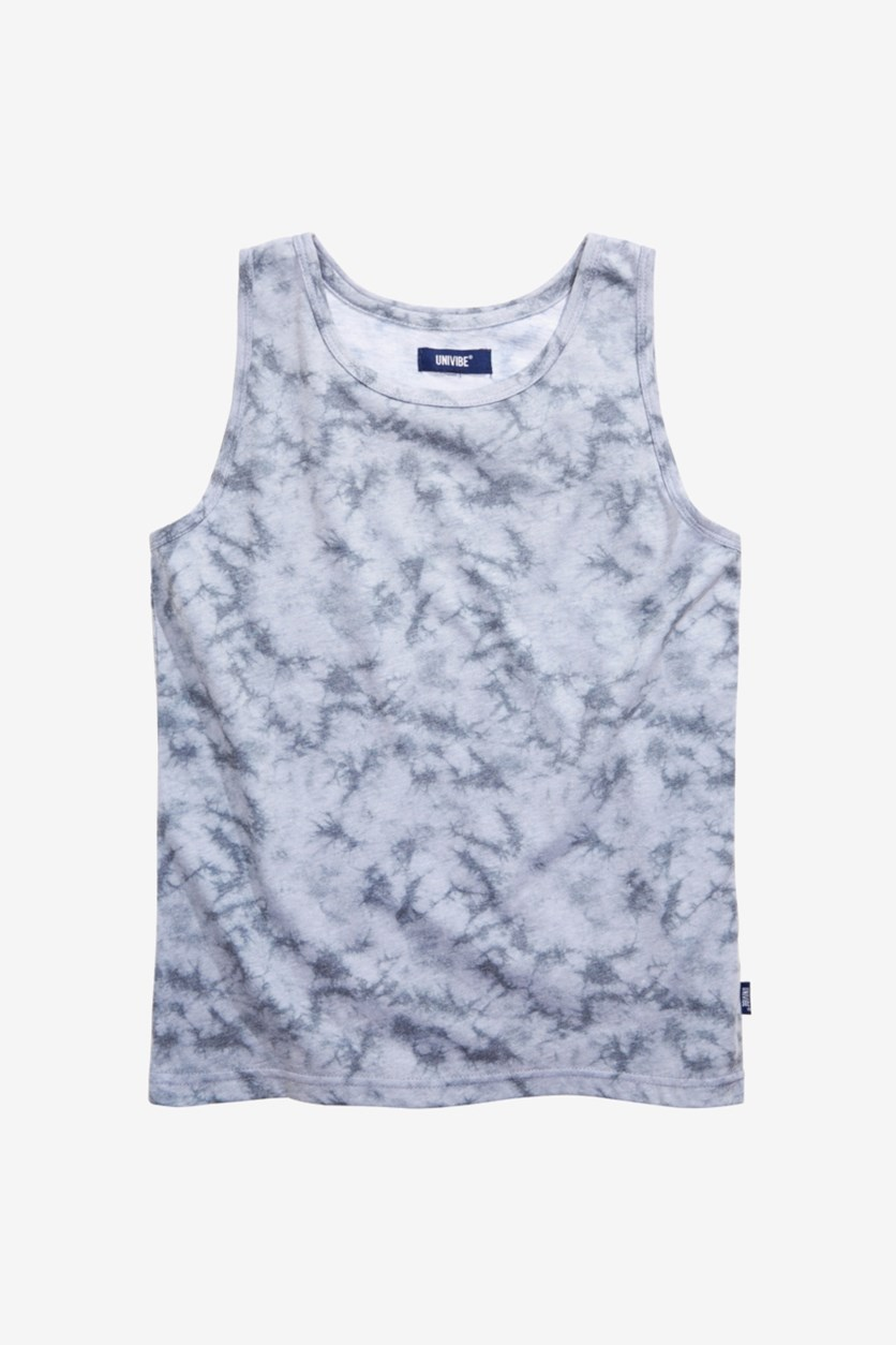 Boys Neutra Tie-Dyed Tank, Gray