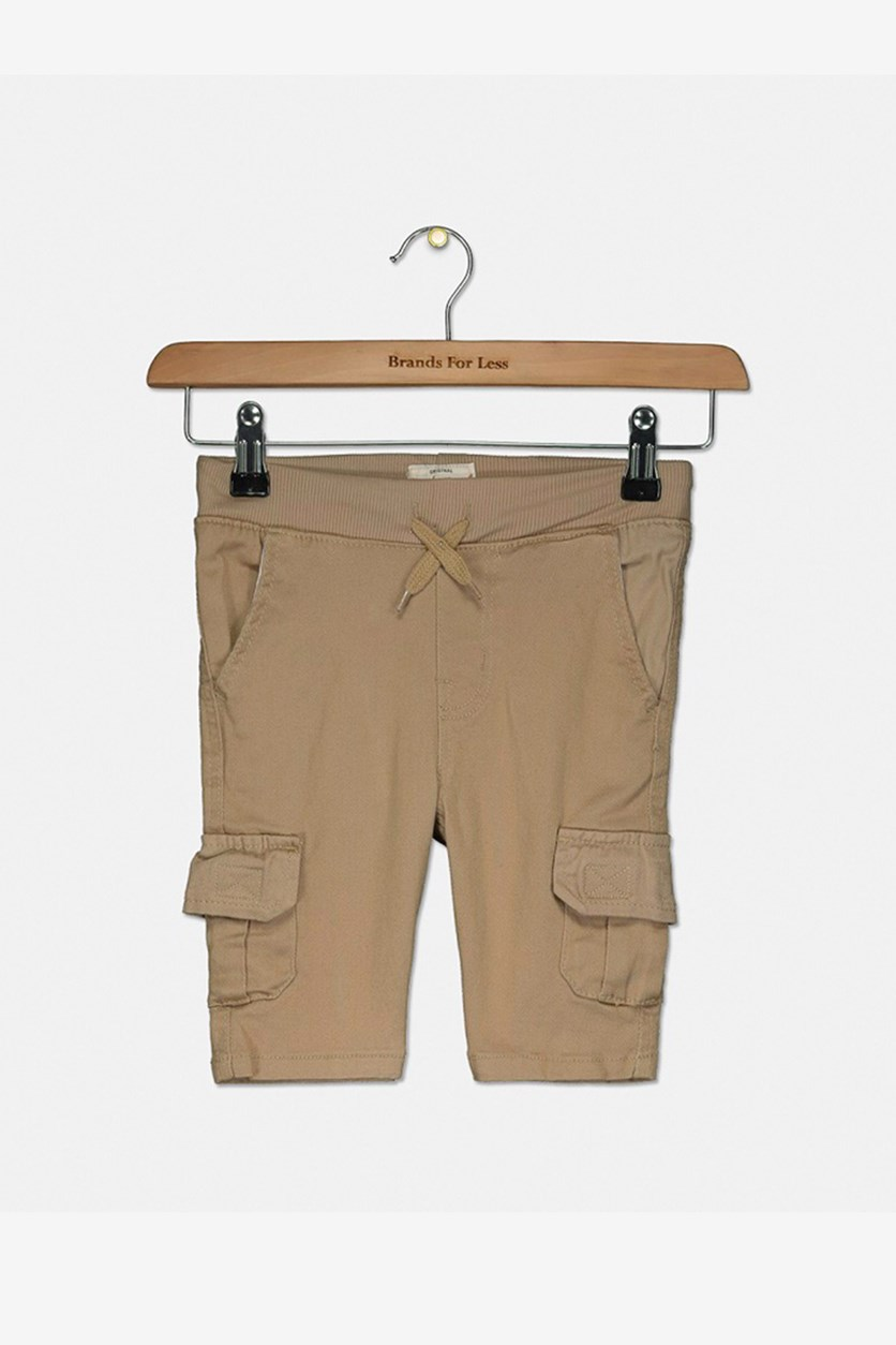 Toddler Boy's Drawstring Cargo Shorts, Khaki