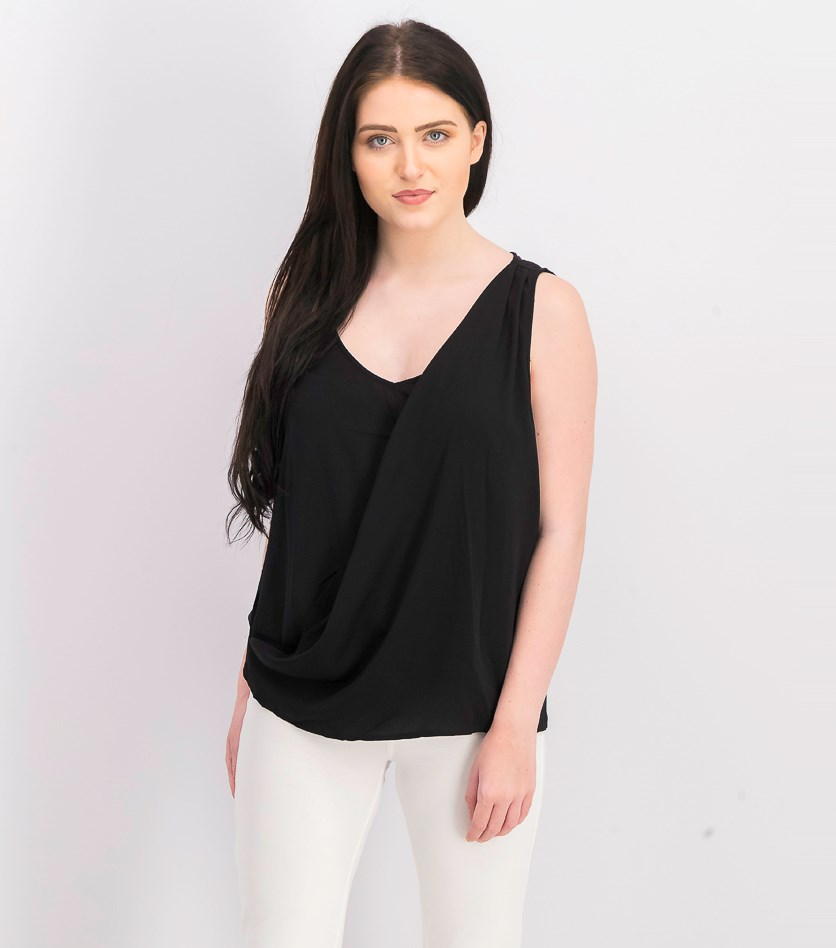 Women Summer Vest Top, Black