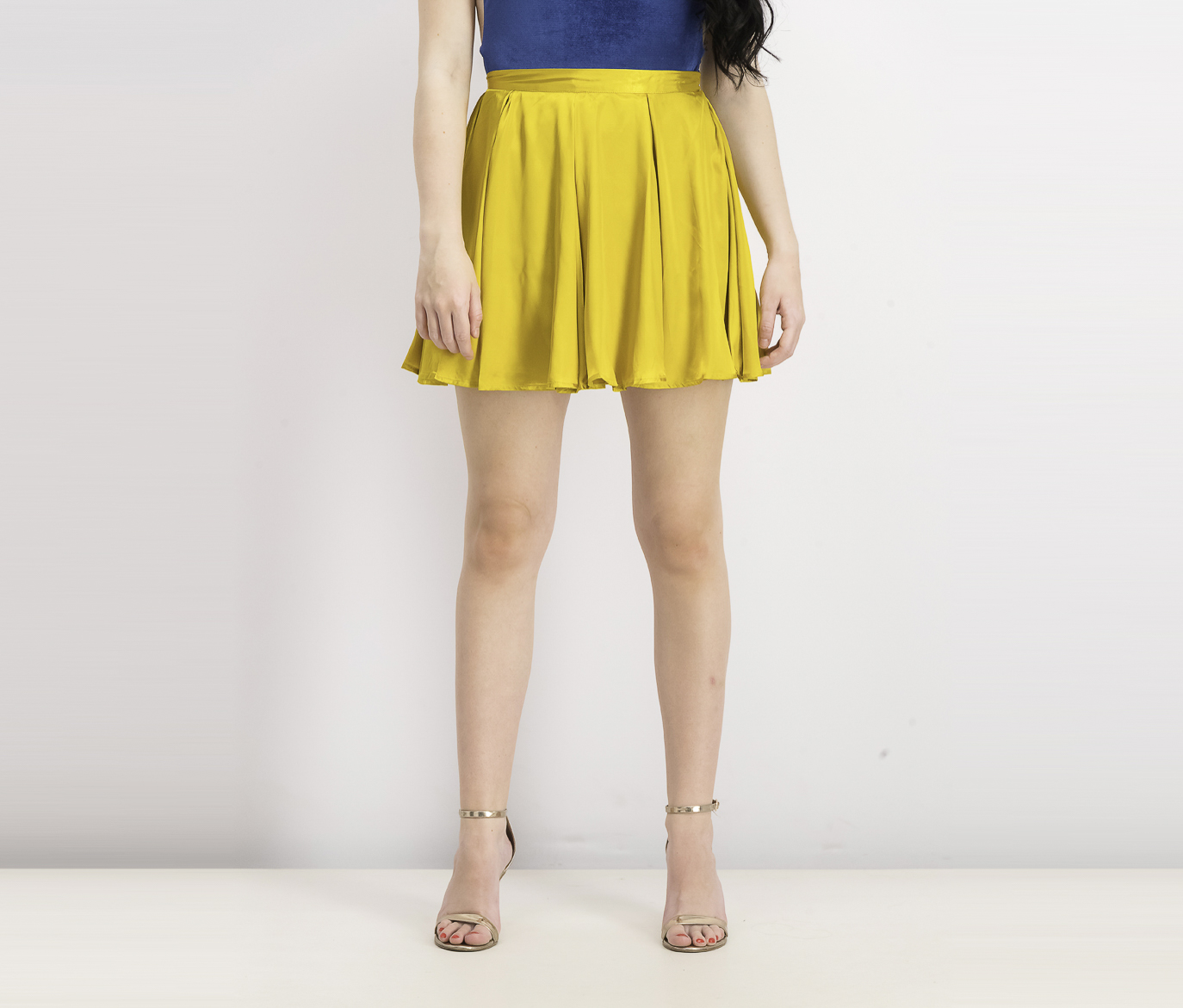 Womens Mini Skirt, Mustard