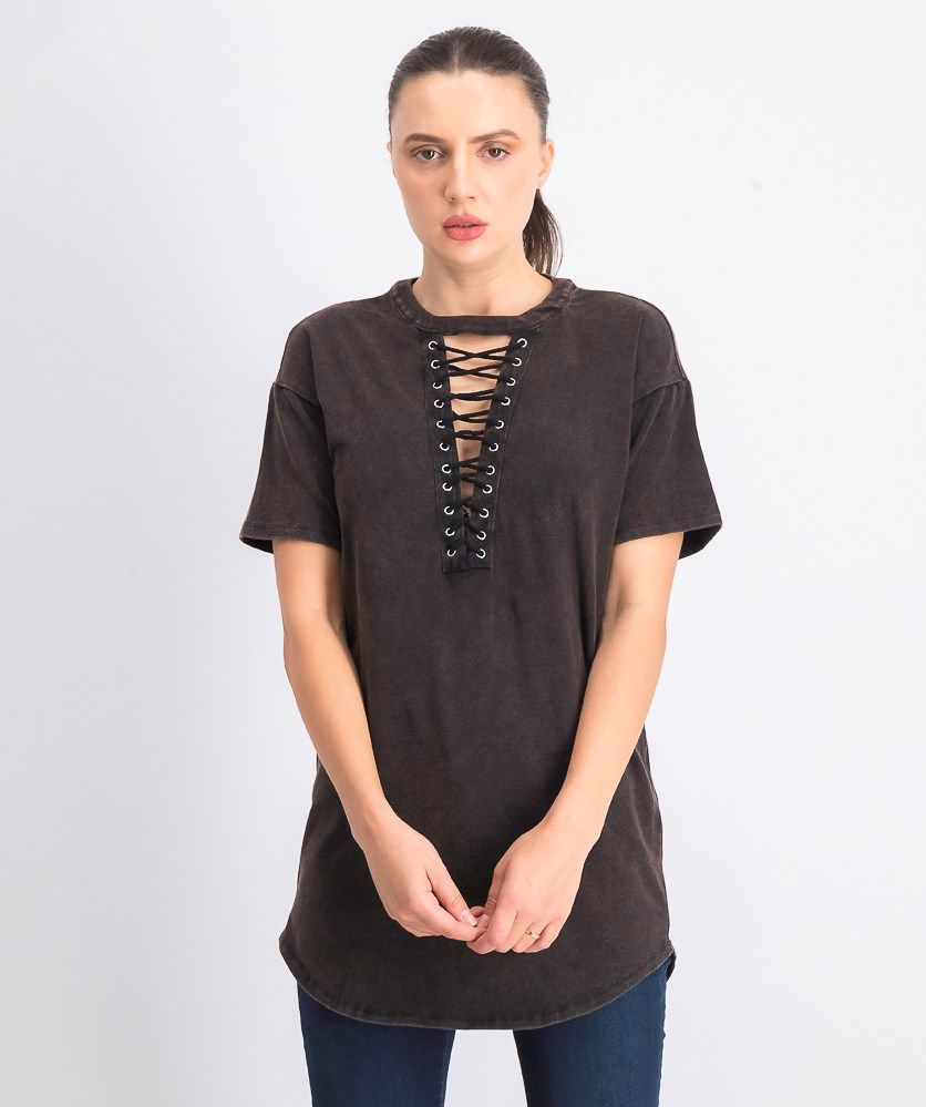 Women's Pullover Tops, Charcoal