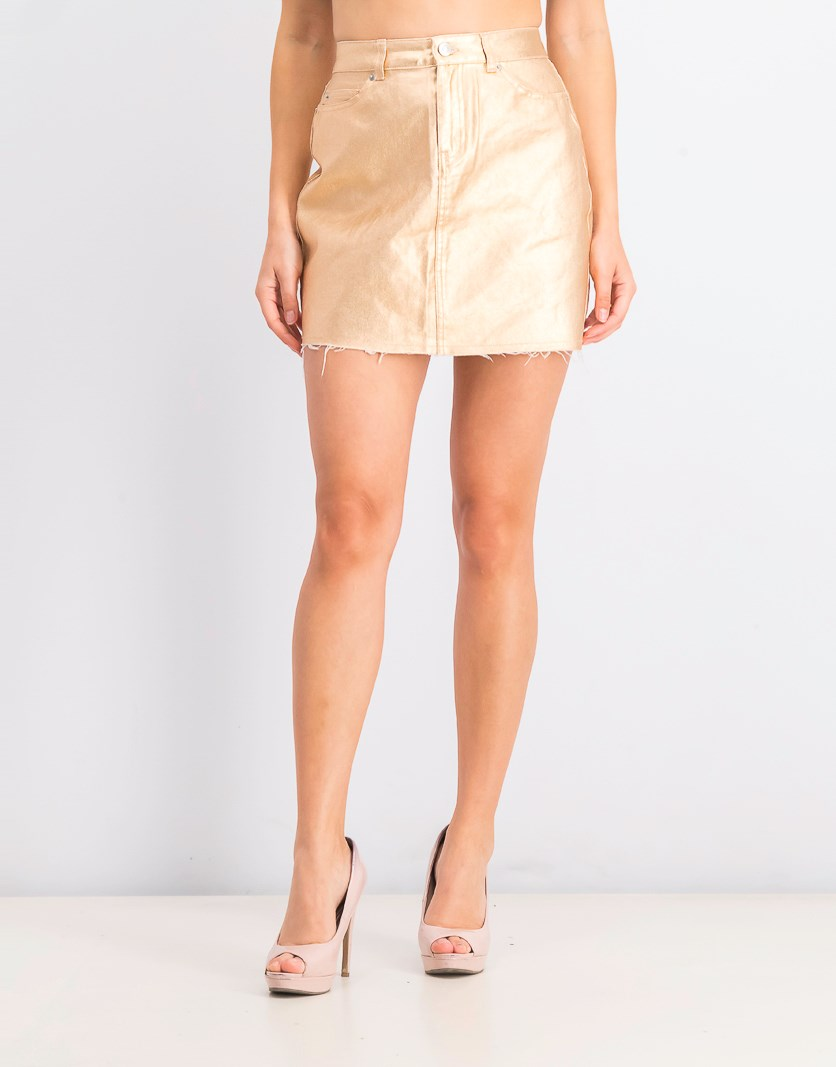 Women's Mini Skirt, Rose Gold
