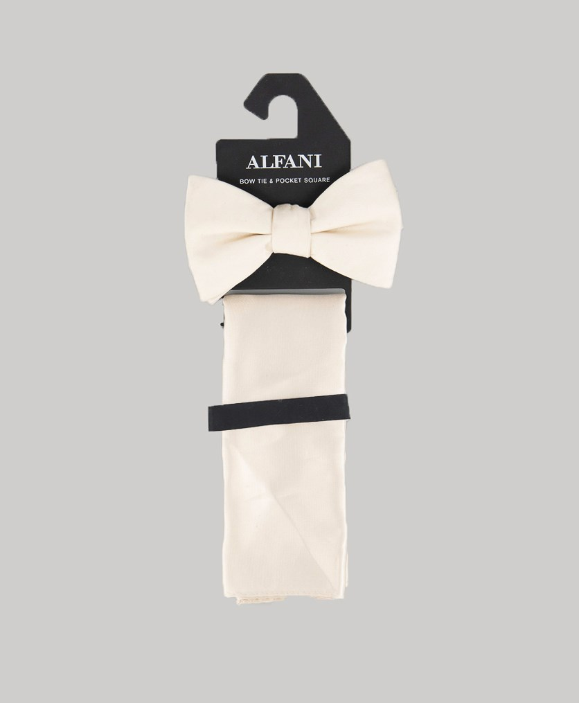 Men's Satin Solid Bow Tie, Gold