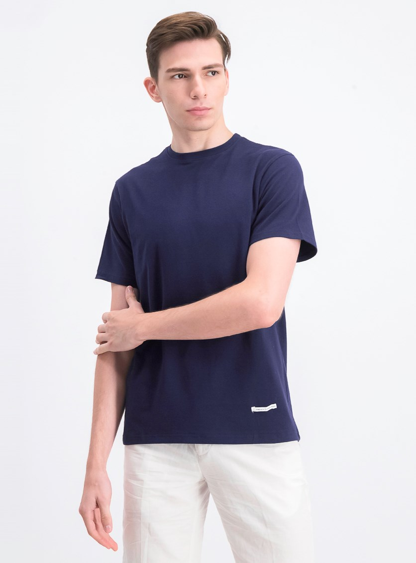 Men's Crew-neck T-shirt, Peacoat