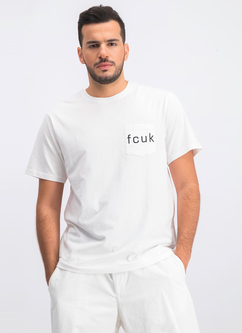 Men's Fcuk Crewneck Graphic T-Shirt, White