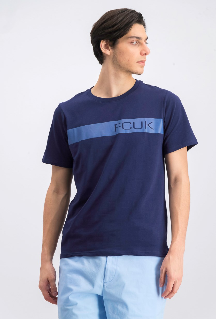 Men's Graphic Crew Neck T-Shirt, Navy