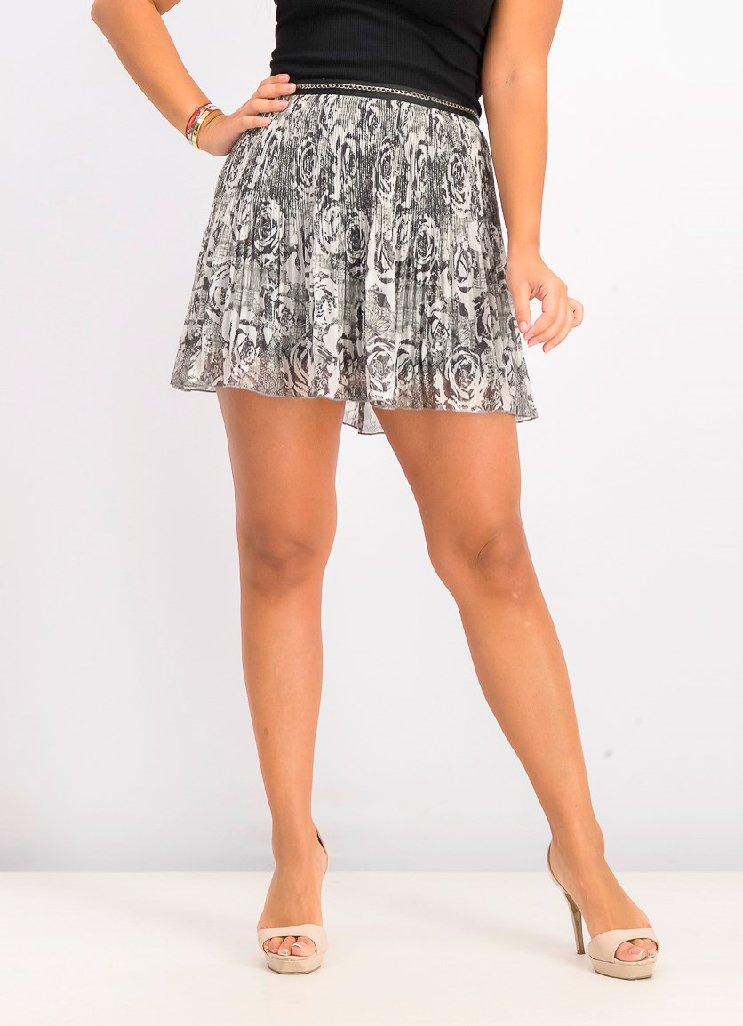 Women's Mini Skirt, Grey