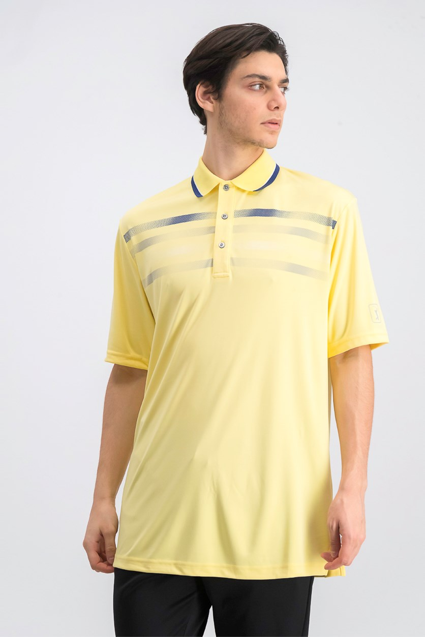 Men's Big & Tall Printed Golf Polo, Popcorn