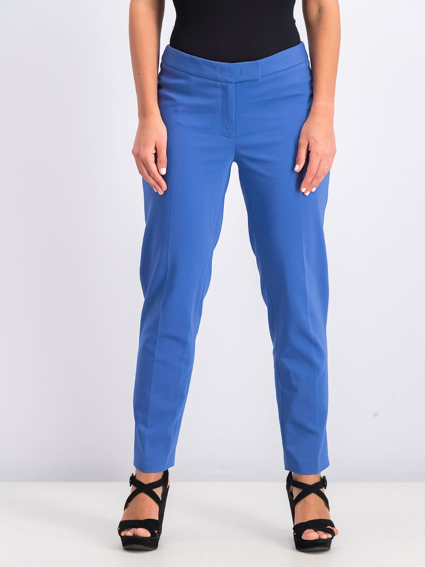 Women's Pull-On Plain Pants, Blue