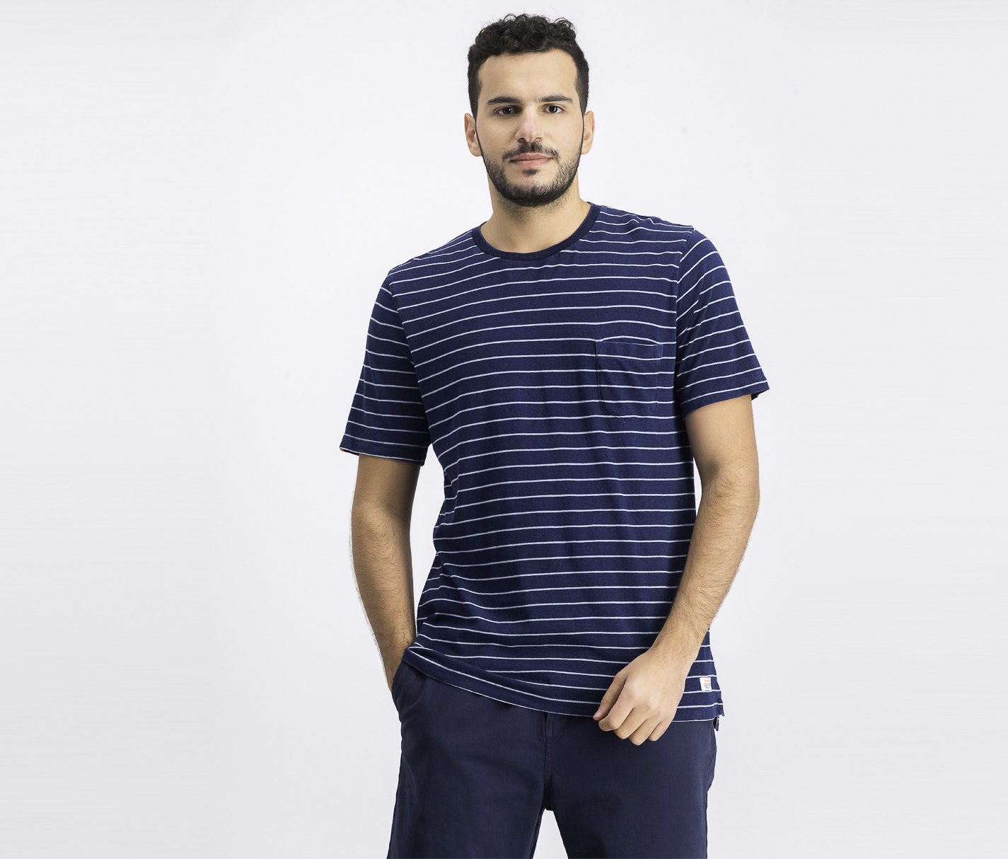 Men's Stripe T-Shirt, Navy