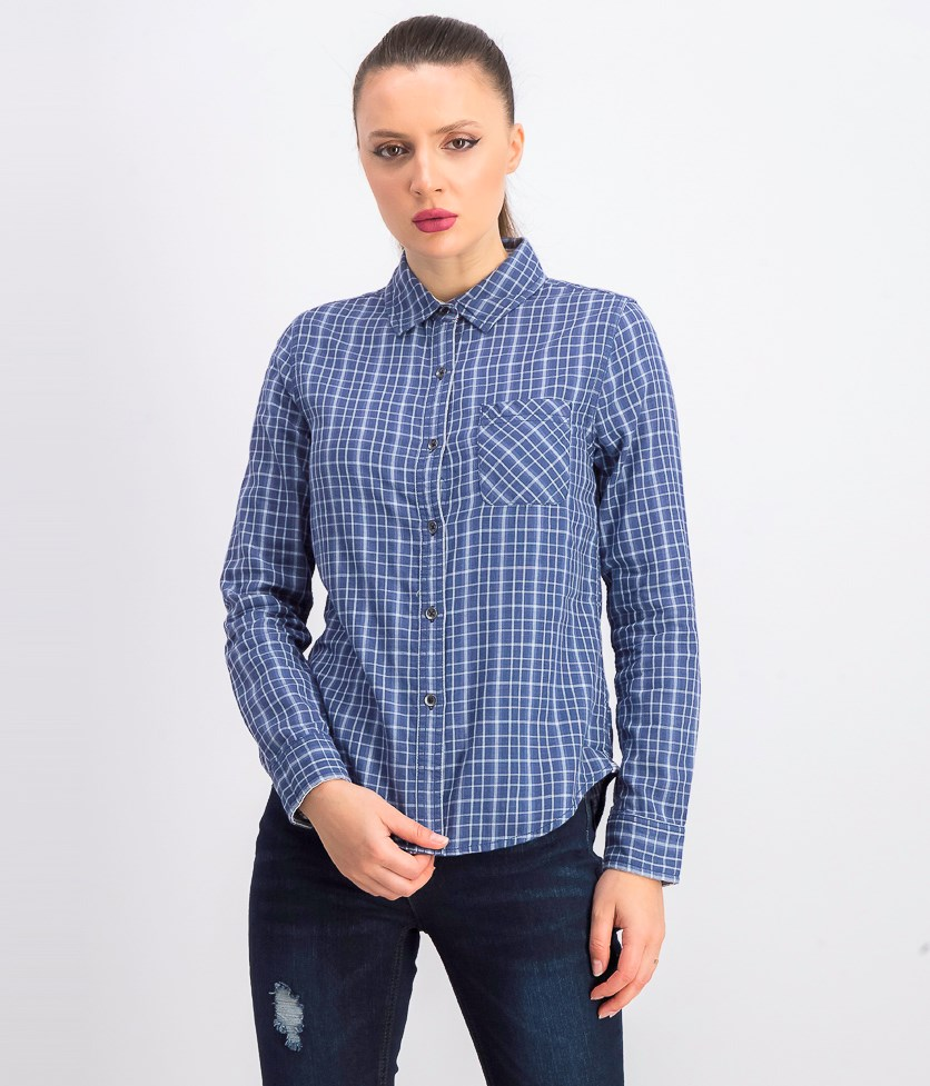 Women's Urbana Plaid Shirt, Blue Combo