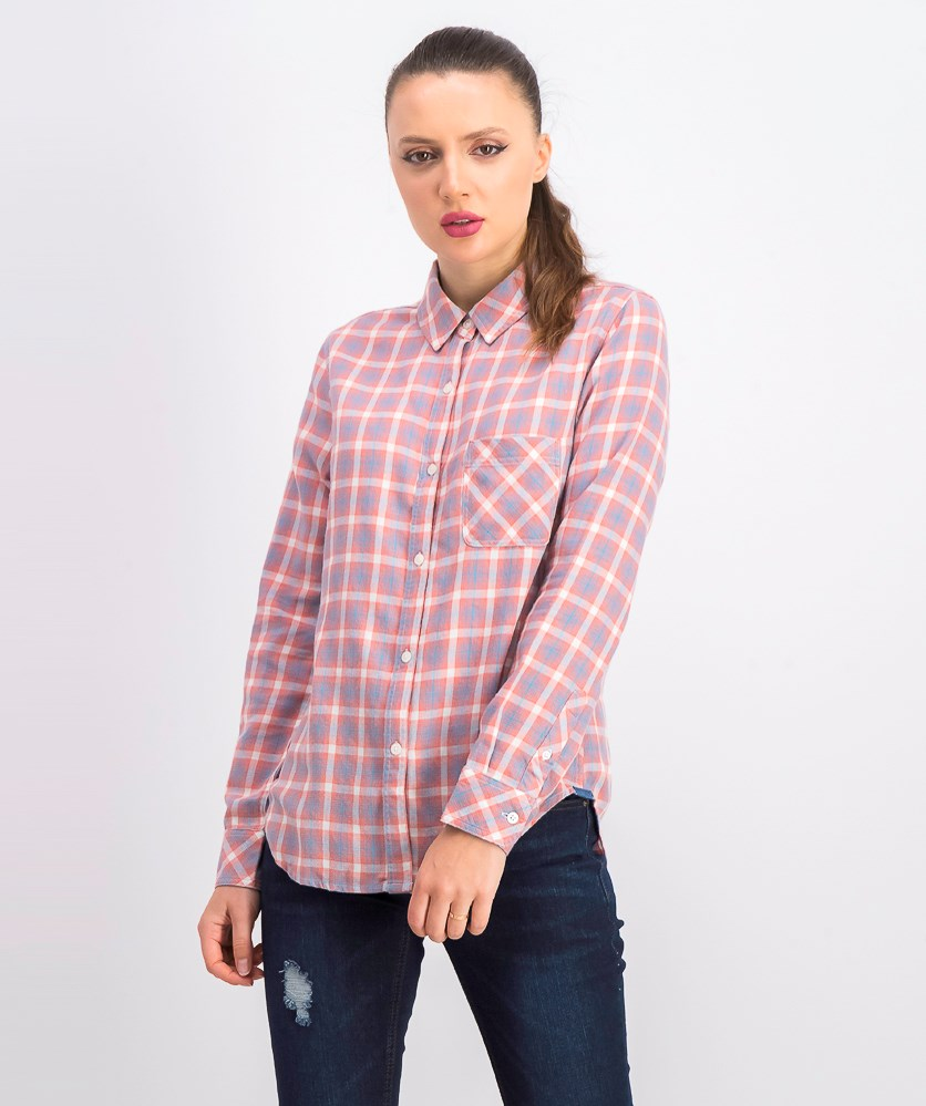 Women's Clarion Plaid Shirt, Blush Combo