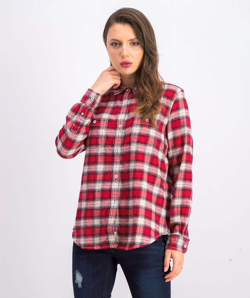 Women's Veradale Plaid Shirt, Red/White