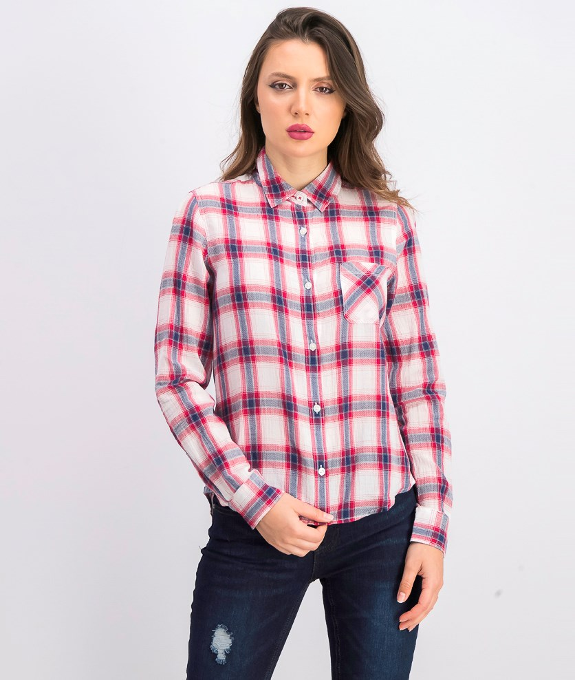 Women's Graceville Plaid Shirt, Red/Navy