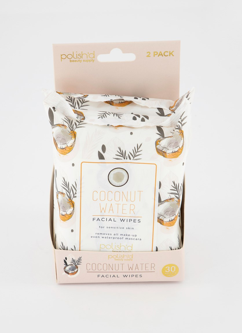 Coconut Water Facial Wipes, White