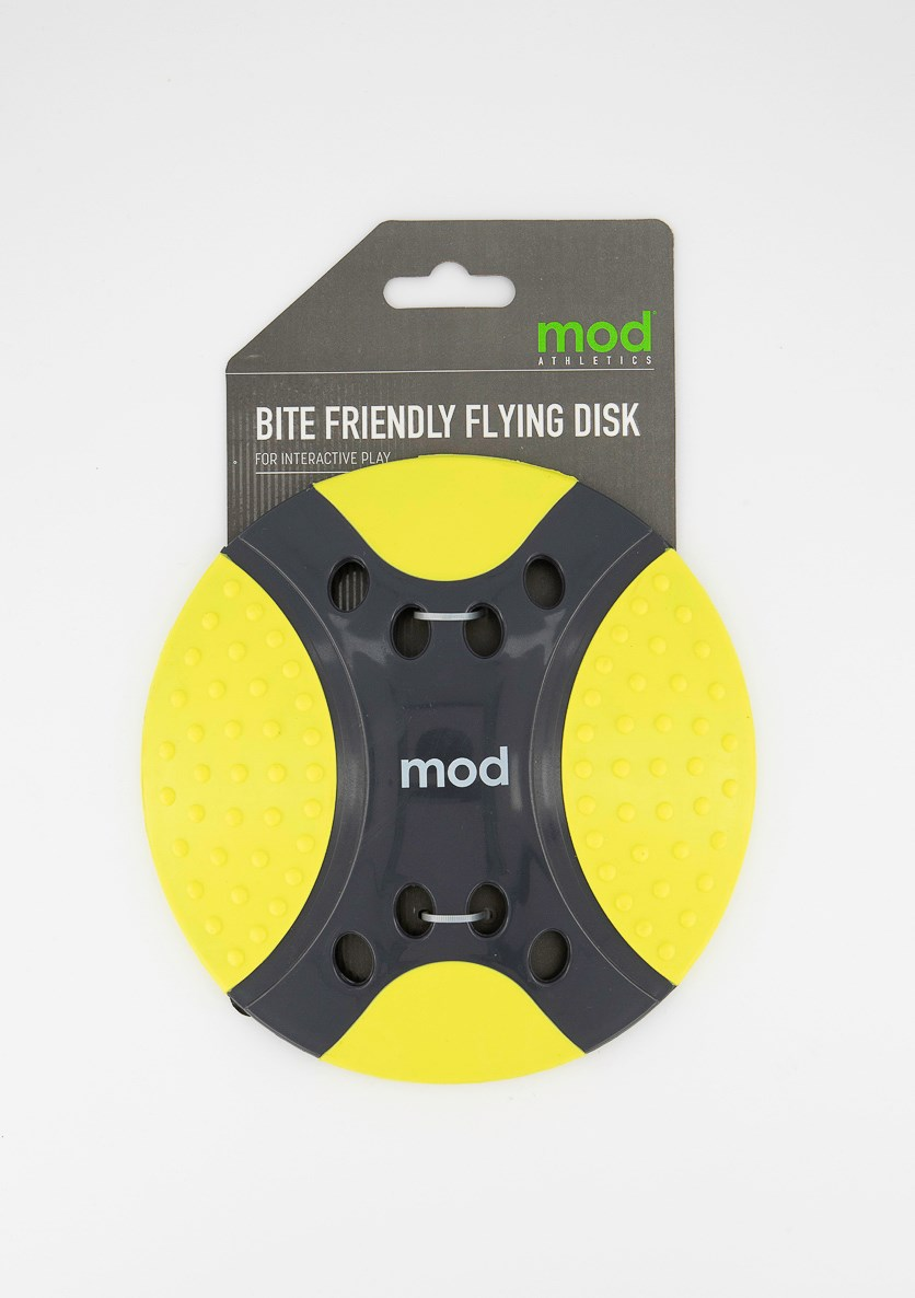Bite Friendly Flying Disk, Lime/Charcoal