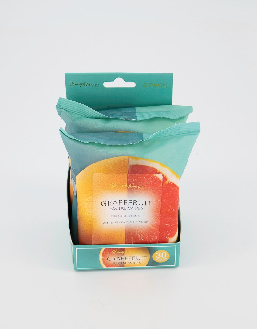 Grape Fruit Facial Wipes Set Of 2, Orange Combo