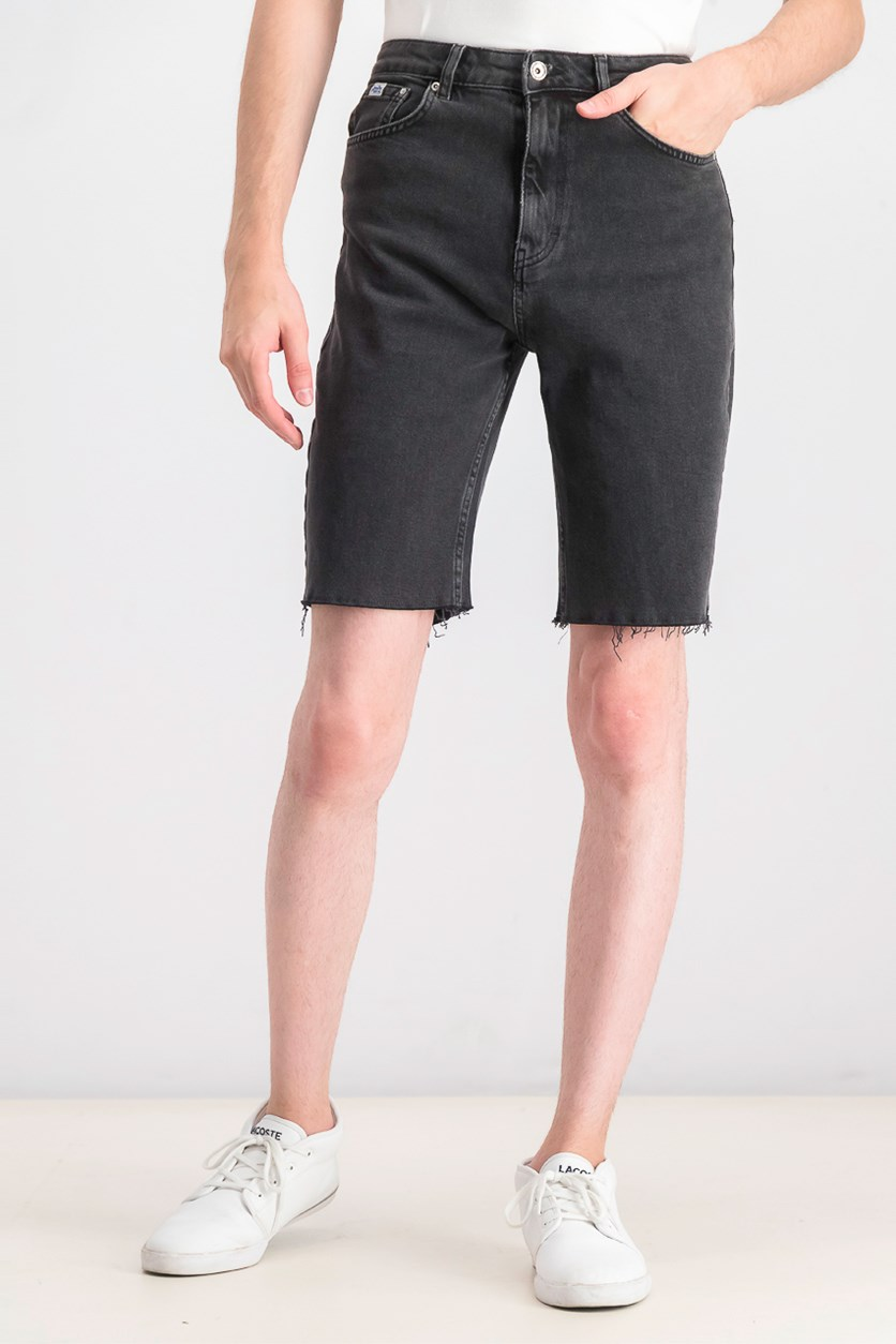 Men's Kari Longline Denim Shorts, Black Wash