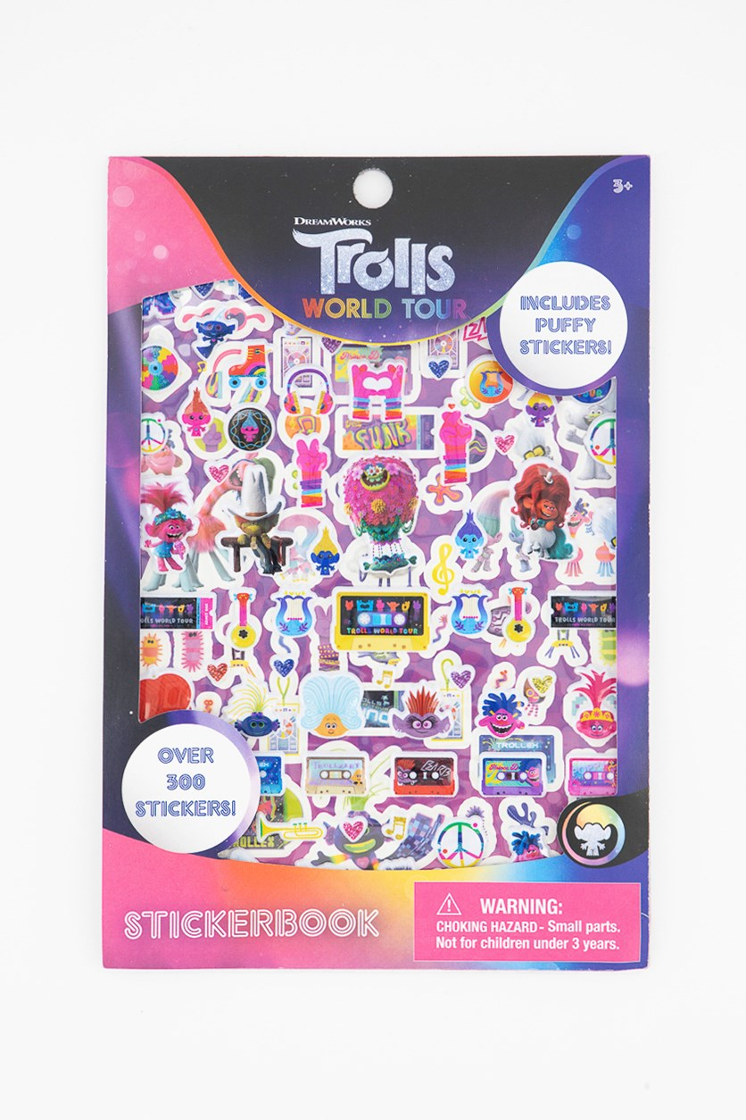 Trolls  World Tour Stickerbook, Pink Combo